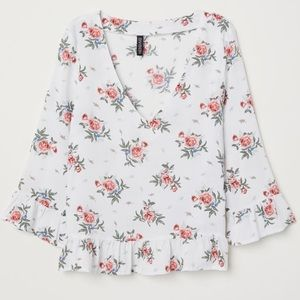DIVIDED FLORAL BLOUSE WOMENS 6